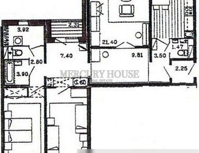 Продаётся 3-комнатная квартира, 98.8 м²