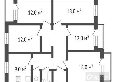 Продаётся 5-комнатная квартира, 100.4 м²