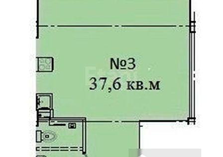 Продаётся студия, 37.6 м²