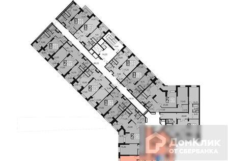 Продаётся 2-комнатная квартира, 87.2 м²
