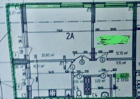 Продаётся 2-комнатная квартира, 62.2 м²
