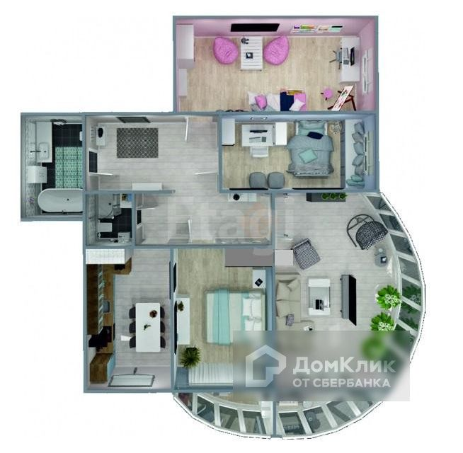 Продаётся 4-комнатная квартира, 116.69 м²
