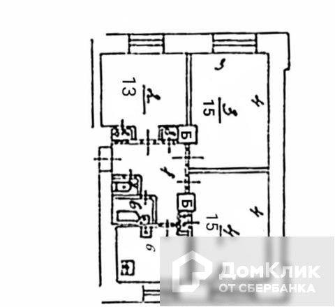 Продаётся 1-комнатная квартира, 60 м²