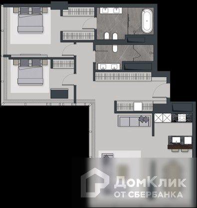 Продаётся 3-комнатная квартира, 126.9 м²
